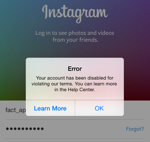 instagram error
