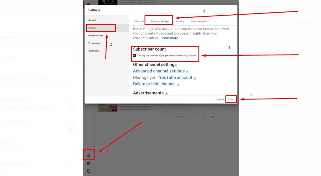 Gambar 1 - Cara menyembunyikan subscriber lewat HP atau di android