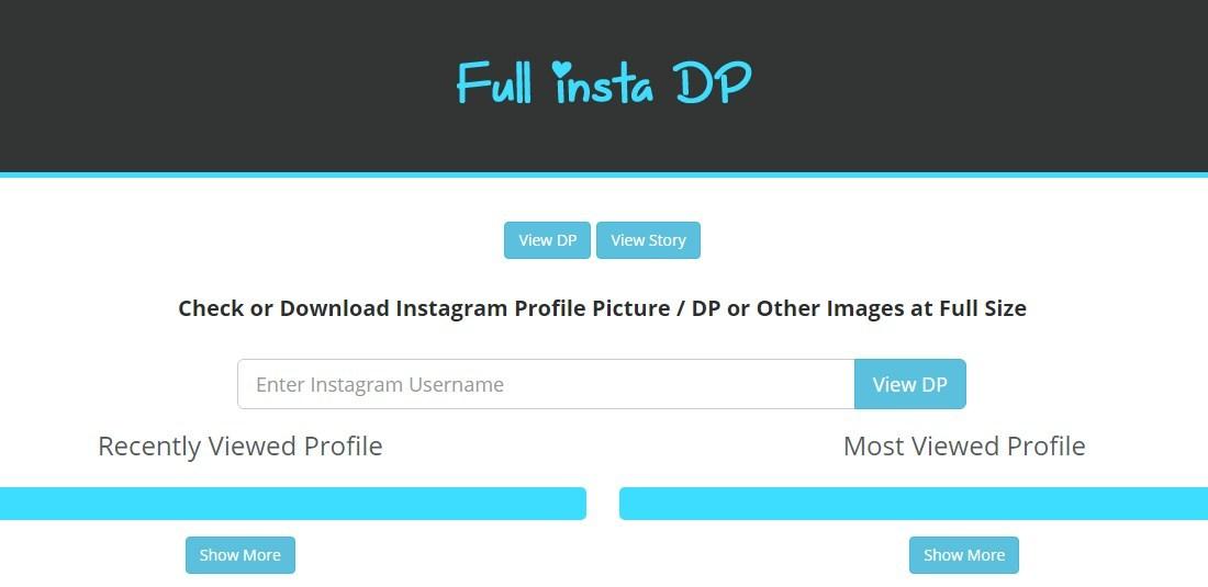 Gambar Download Foto Profil Instagram dengan FullInstaDP