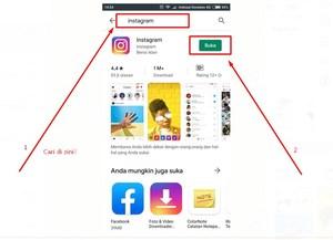 Gambar Tutorial instagram dasar cara mengunduh IG di play store