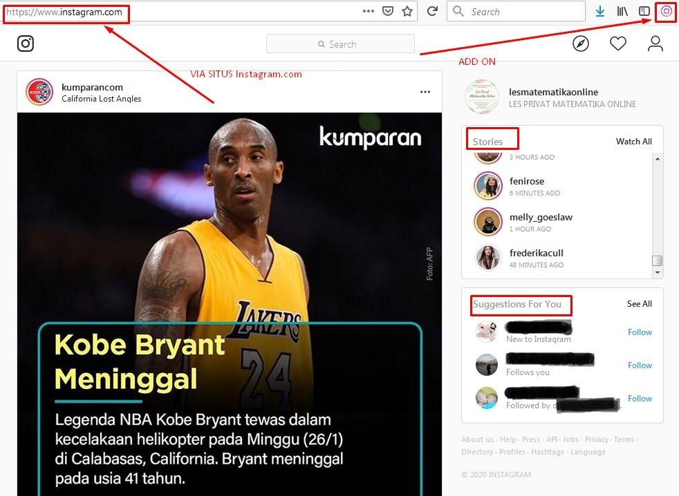 Cara menggunakan instagram lewat laptop