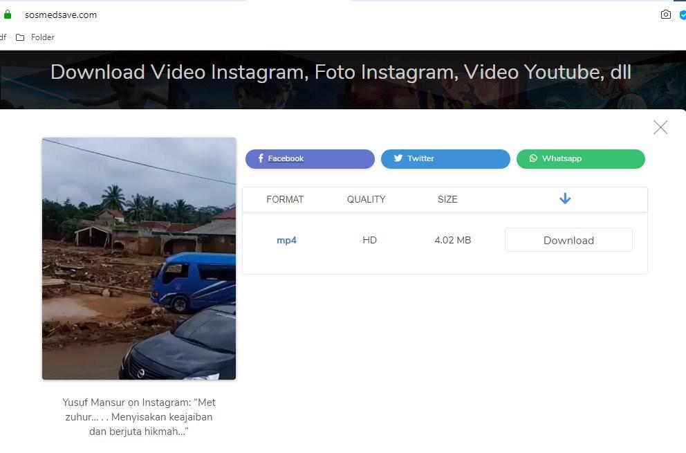 Download video di Instagram tanpa aplikasi