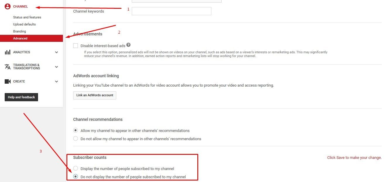 Gambar Cara Menyembunyikan Subscribers Youtube