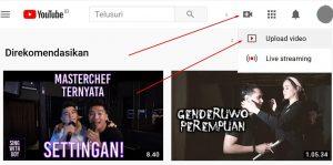 Gambar Cara upload masukin video ke youtube