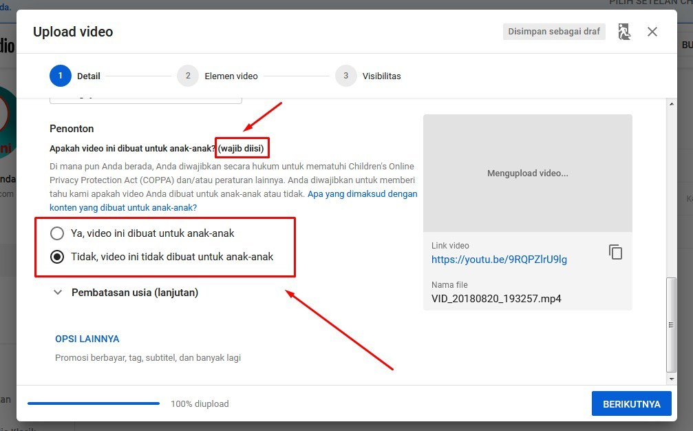 Cara masukin video ke youtube lewat laptop