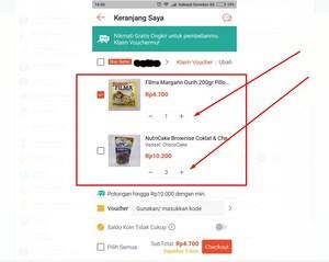 Gambar Cara berbelanja di Shopee lebih dari 1 barang
