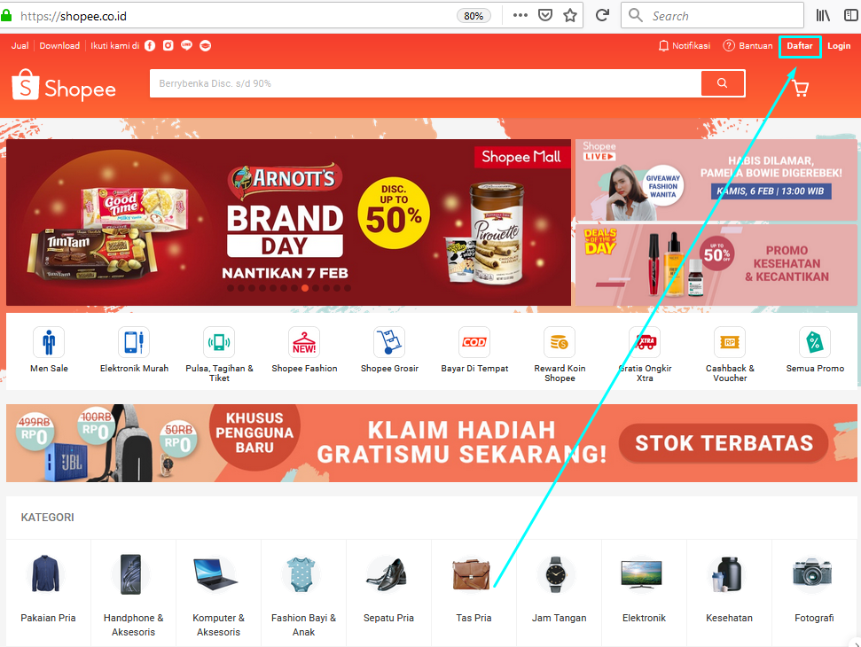 Gambar Cara daftar di Shopee sebagai penjual