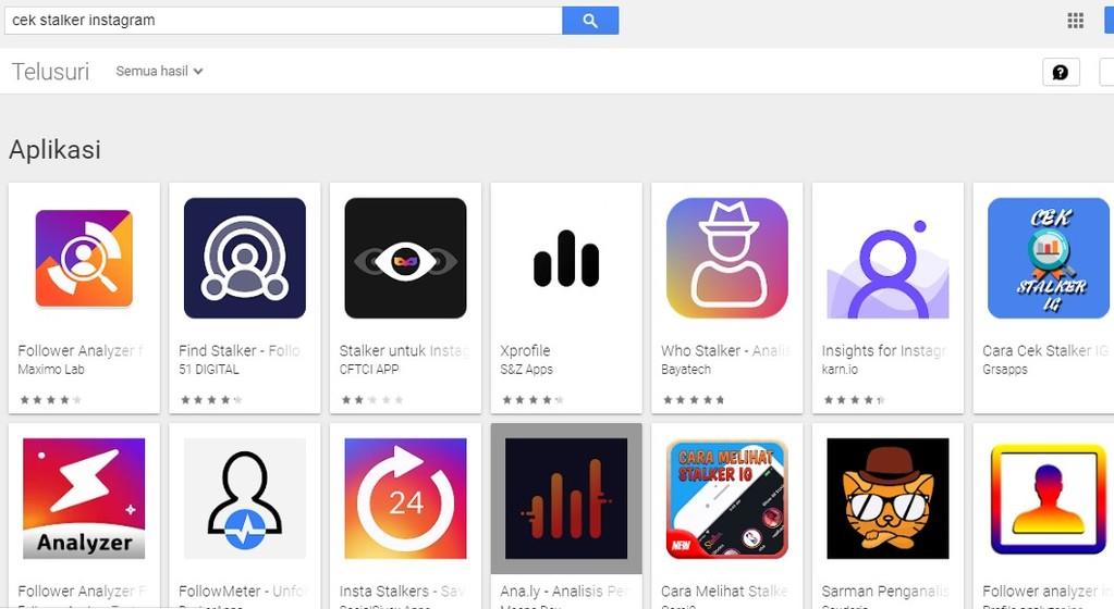 Gambar 2 - Cara mengetahui stalker di IG via aplikasi
