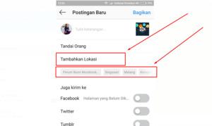 Cara membuat lokasi di instagram tanpa facebook (langsung dari IG)