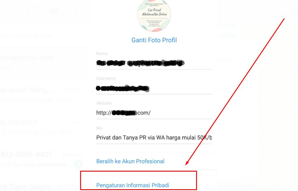 Gambar Cara mengganti email IG yang lupa kata sandi dan alasan lain via android