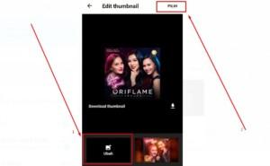 Gambar 2 - Mengganti ke thumbnail yang sudah dibuat sendiri