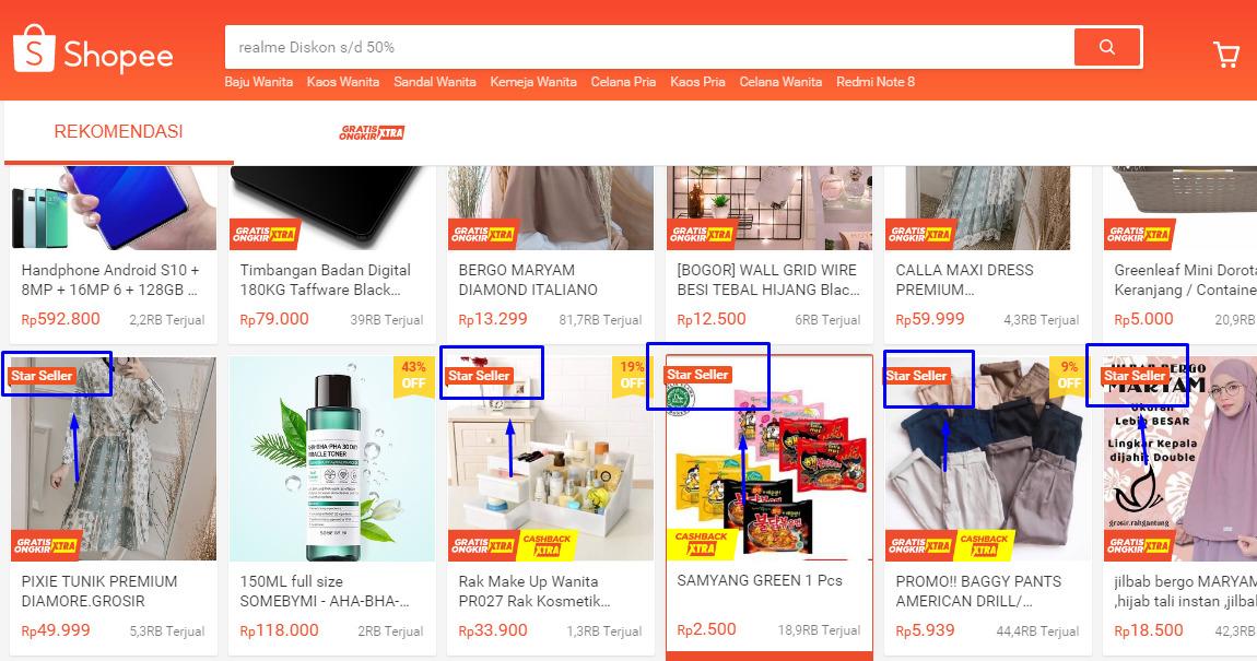 Pengertian dan syarat star seller Shopee terbaru