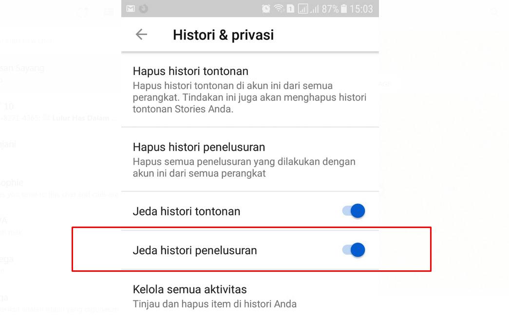 Cara hapus riwayat youtube di android