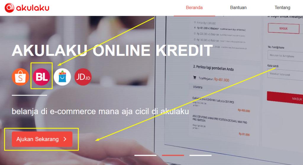 Gambar 3 - Cara kredit di Bukalapak dengan Akulaku