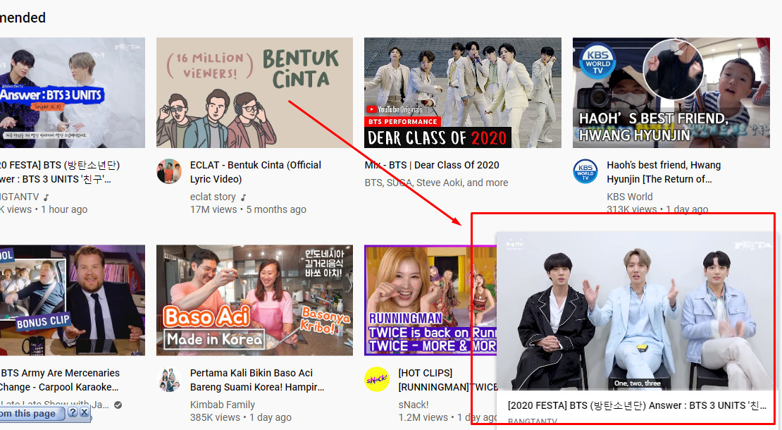 Cara minimize youtube di PC