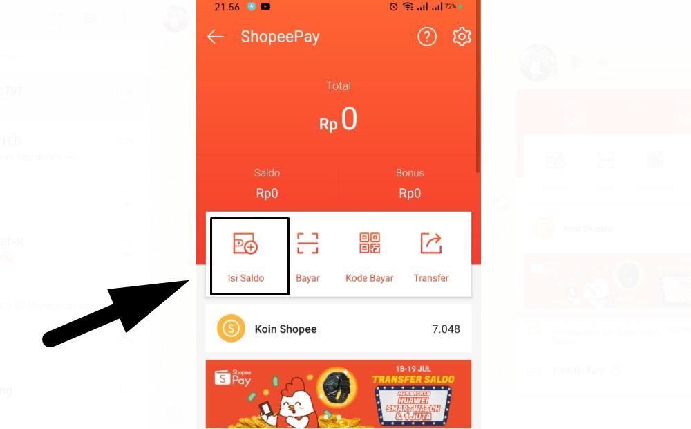 Gambar 1 - Cara top up Shopee Pay yang harus Anda tahu - Sengaja isi saldo