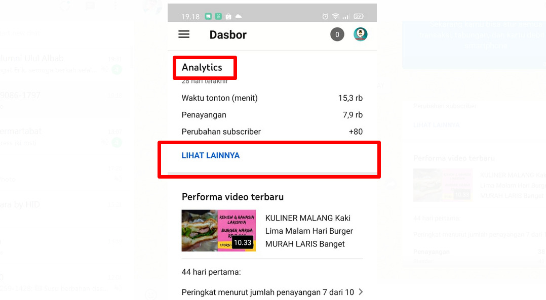 Cara melihat Analytic Youtube via HP, Youtube Studio