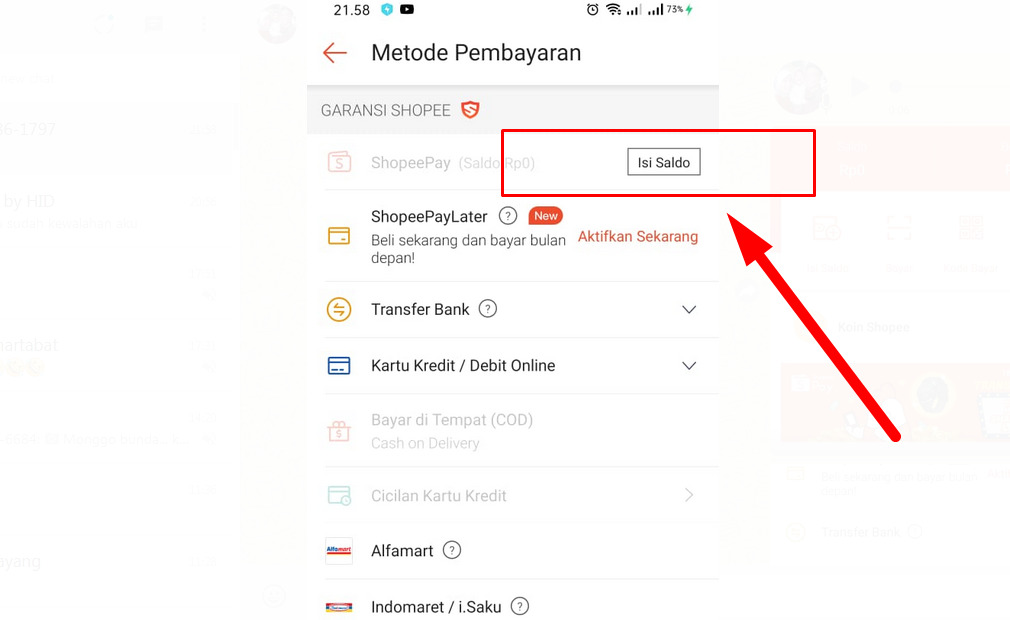 Cara top up Shopee Pay yang harus Anda tahu - Saat Checkout