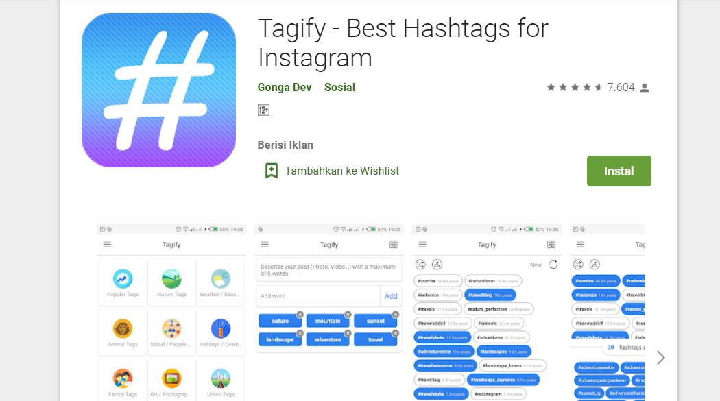 Aplikasi pencari hashtag instagram - Tagify