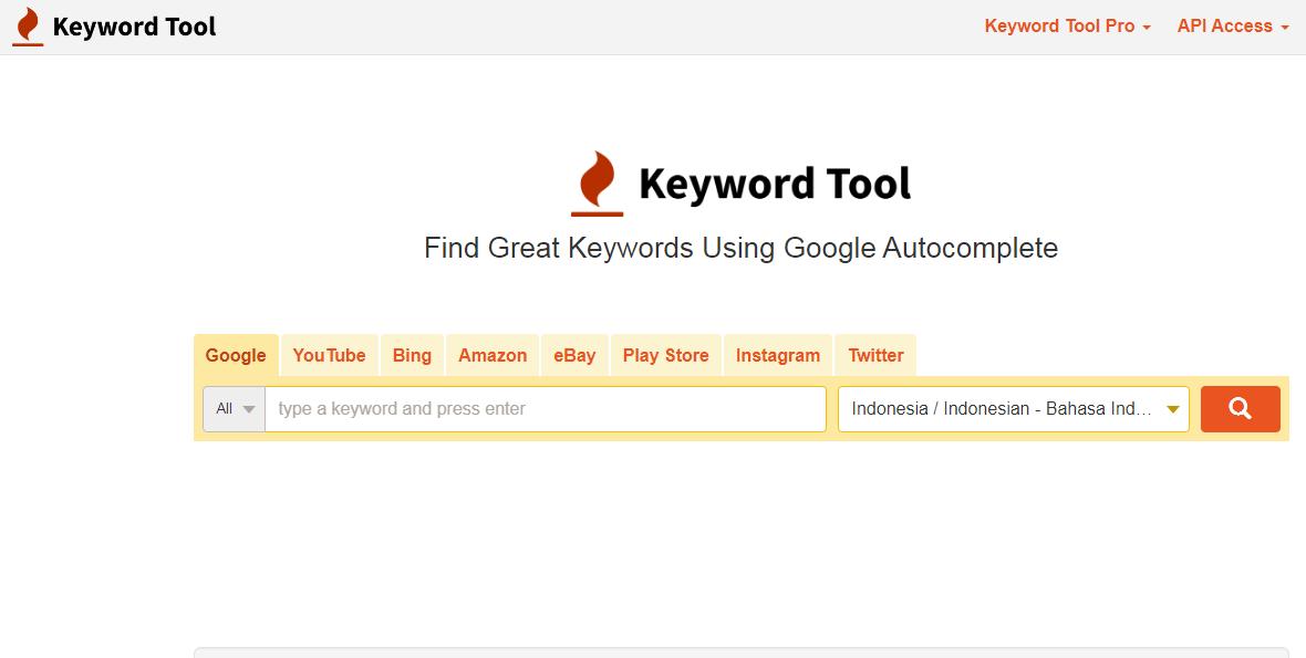 Cara riset keyword youtube pakai tools atau aplikasi keyword youtube - Keyword Tool
