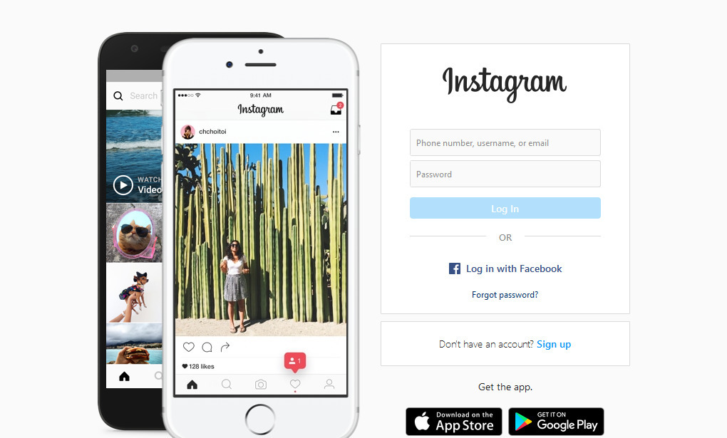 Gambar 1 - Instagram PC dari web browser