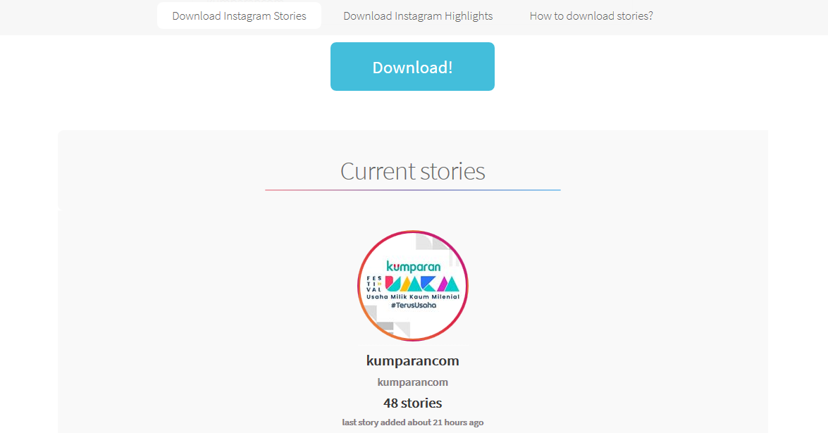 Download story instagram tanpa aplikasi