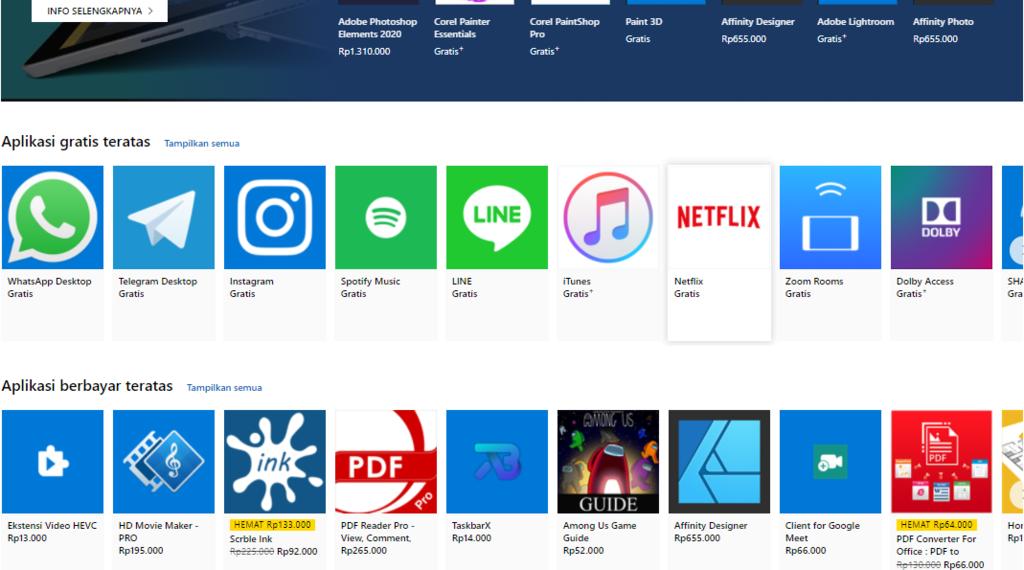 Gambar 3 - Cara download aplikasi di laptop windows - lewat windows store