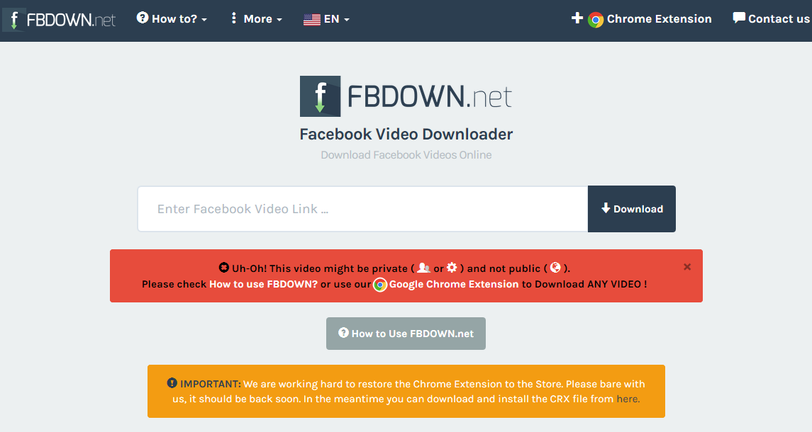 Cara download video di FB (PC dan HP) via browser (tanpa aplikasi) - FBDown.net