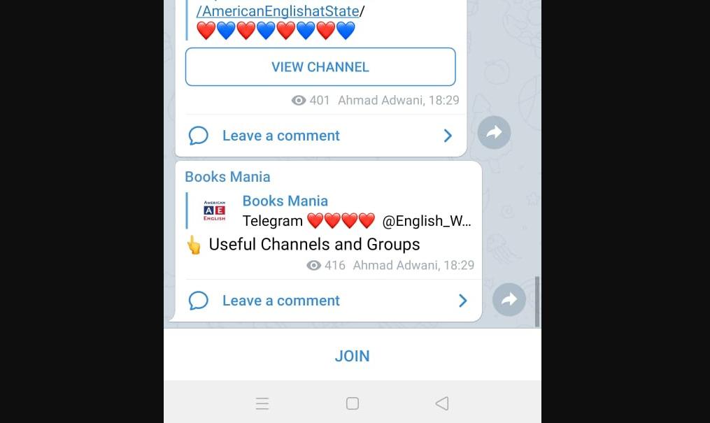 Gambar 1 - Apa itu channel telegram