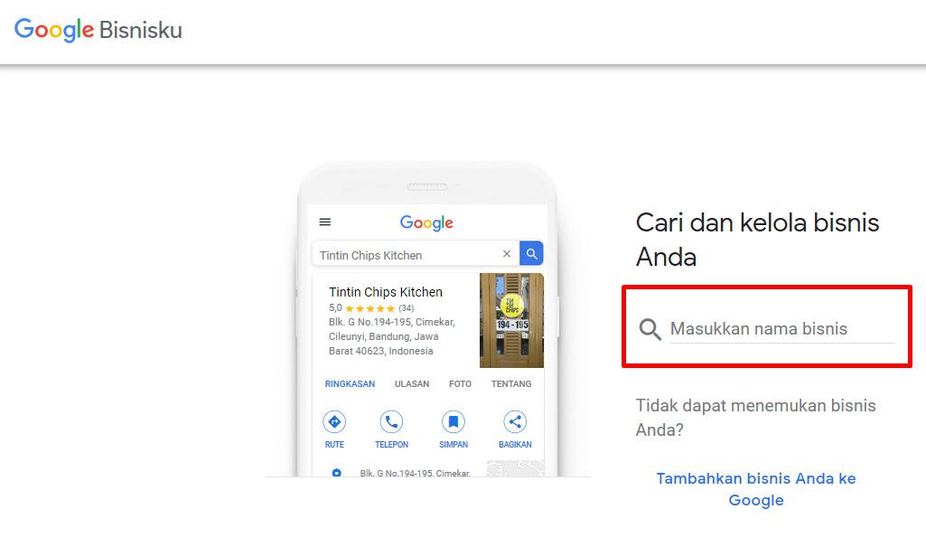 Cara mendaftarkan lokasi di Google Map - Via Google Bisnisku