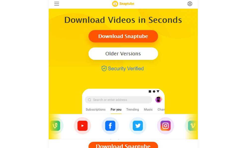 Cara download lagu dari Youtube di PC pakai Snaptube