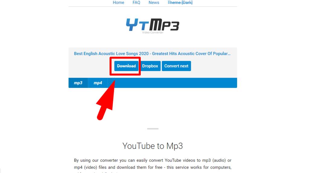 Gambar 3 - Download lagu dari Youtube lewat situs online (HP dan PC)