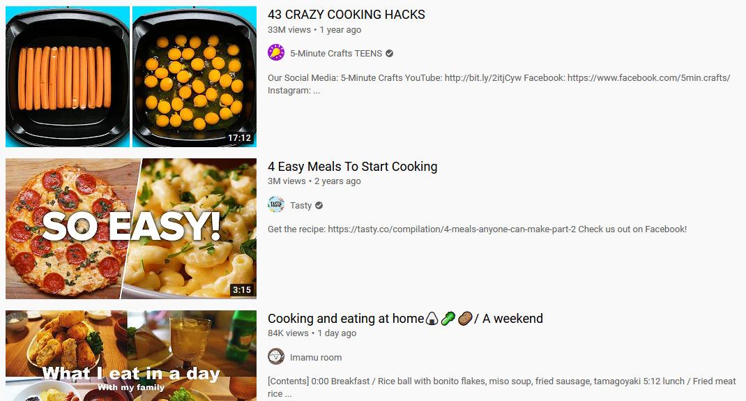 Gambar 1 - Daftar ide video untuk konten Youtube yang bagus - Tutorial memasak