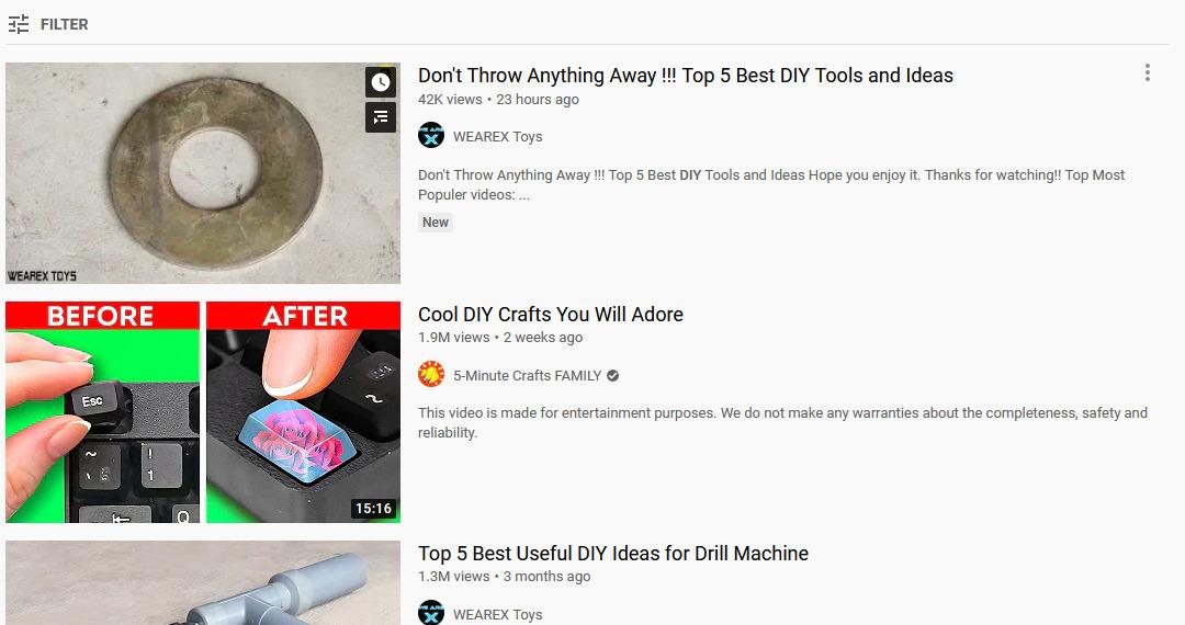 Daftar ide video untuk konten Youtube - DIY