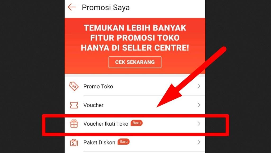 Cara mendapatkan follower Shopee yang tertarget secara gratis berbayar - Mengaktifkan voucher Ikuti Toko