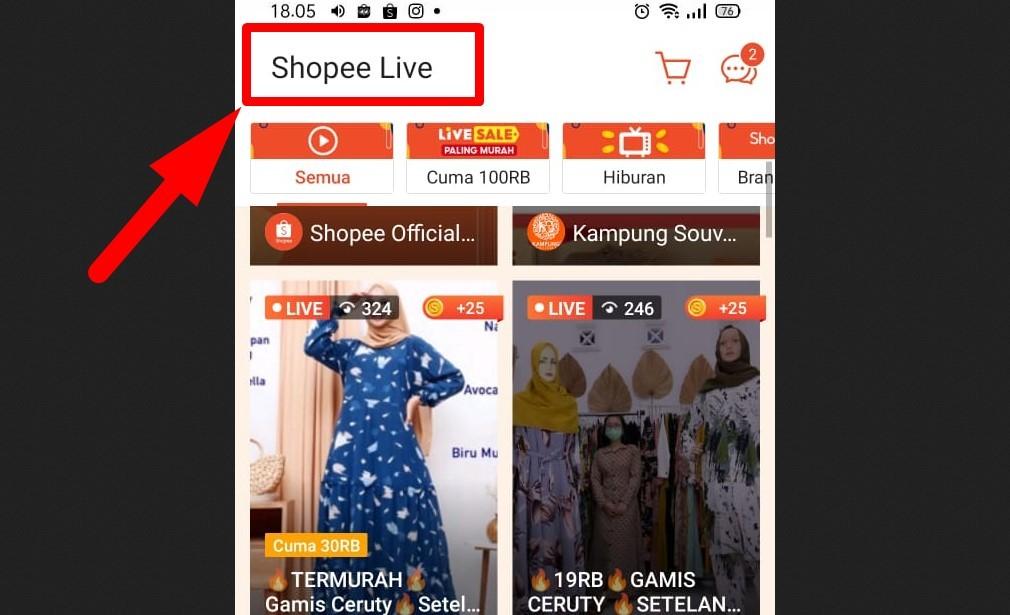 Cara mendapatkan follower Shopee - Coba Shopee Live