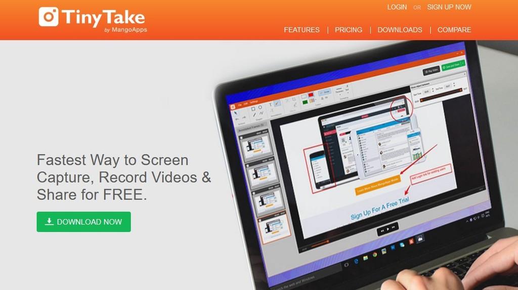 aplikasi perekam layar PC dan laptop yang bagus - TinyTake, cara merekam layar laptop windows 7, 8, 8.1, dan 10