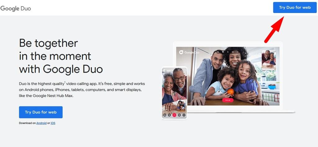 Gambar 1 - Cara menggunakan Google Duo PC